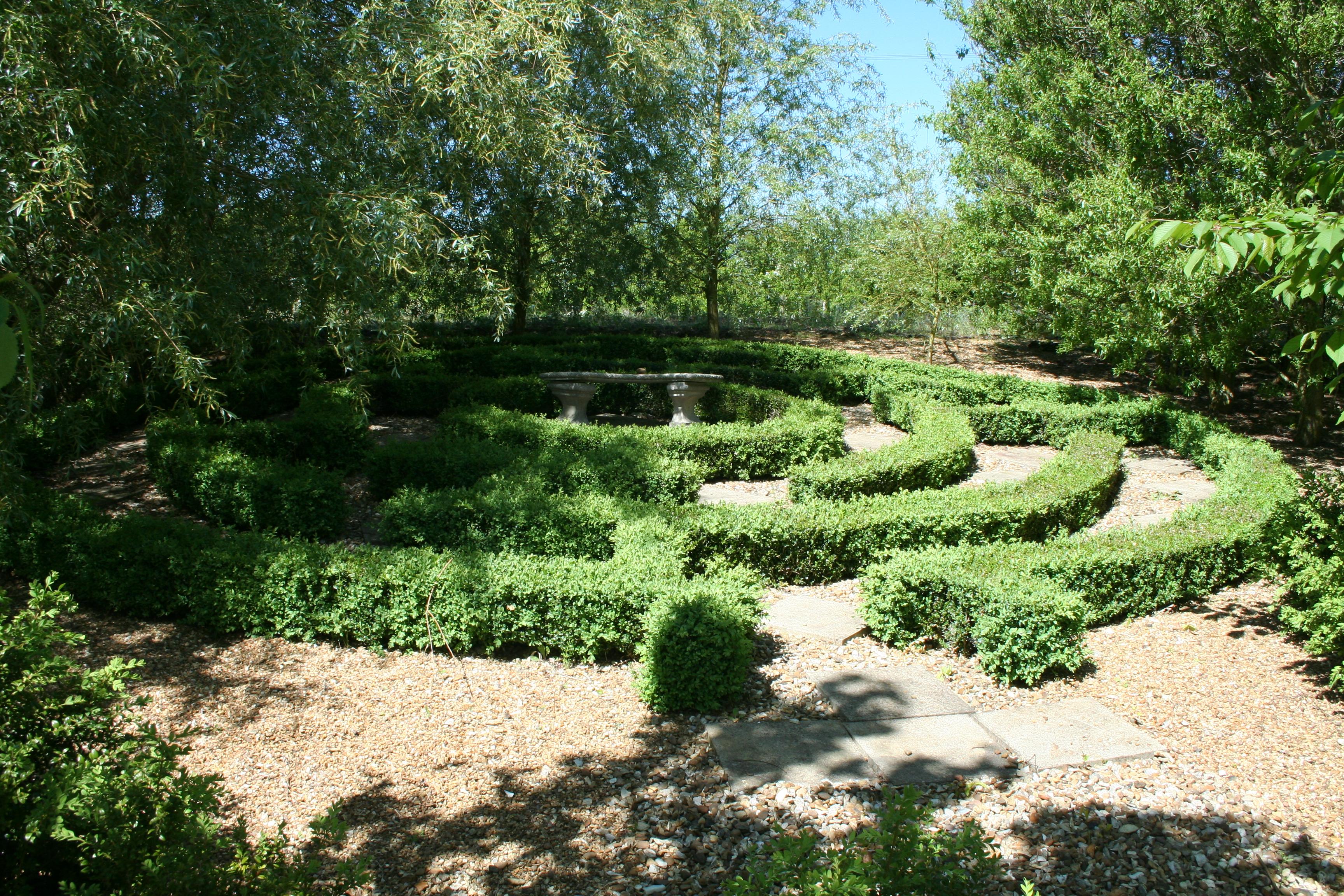 Dwarf Box plants creating a maze