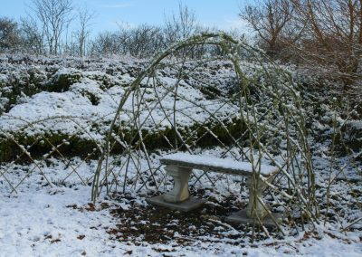 Living Willow standard dome kit WK105 at Willows Nursery, just after planting