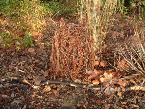 Woven willow owl at Willows Nursery