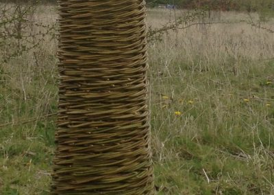 Woven willow tower at Willows Nursery