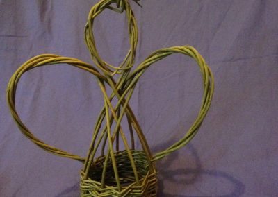 Easy Willow project. Woven willow Christmas Angel decoration at Willows Nursery