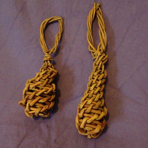Easy willow project. Woven willow Christmas tree decoration at Willows Nursery