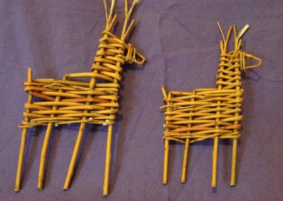 Easy Willow project. Woven willow Reindeer Christmas decoration at Willows Nursery