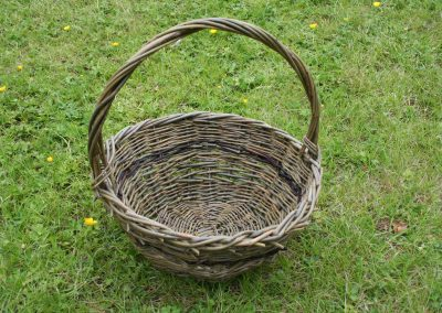 Woven willow basket at Willows Nursery