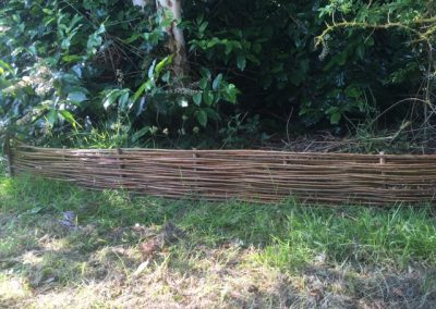 Woven willow garden edging at Willows Nursery Buy willow to make
