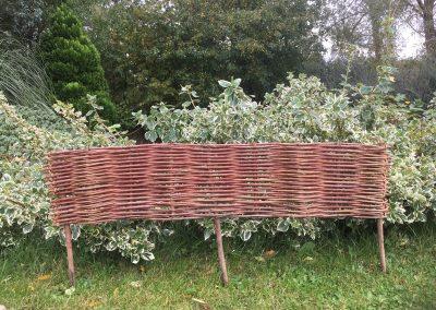 Woven willow garden edging hurdle. Buy willow to make