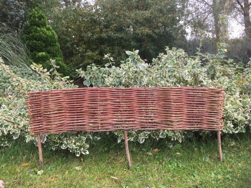 Woven willow garden edging hurdle